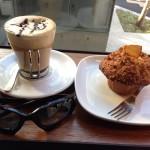 raphaのカフェモカとマフィン