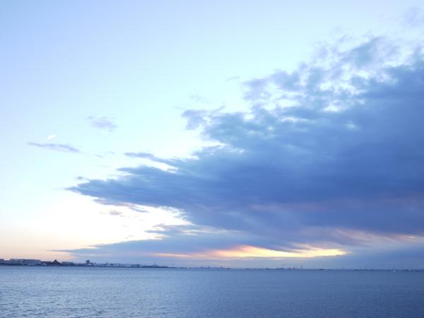 2015年初日の出後の曇り空