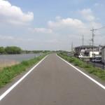 埼玉県、中川のサイクリングロード?