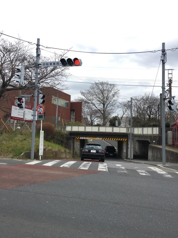 運河駅近くの交差点