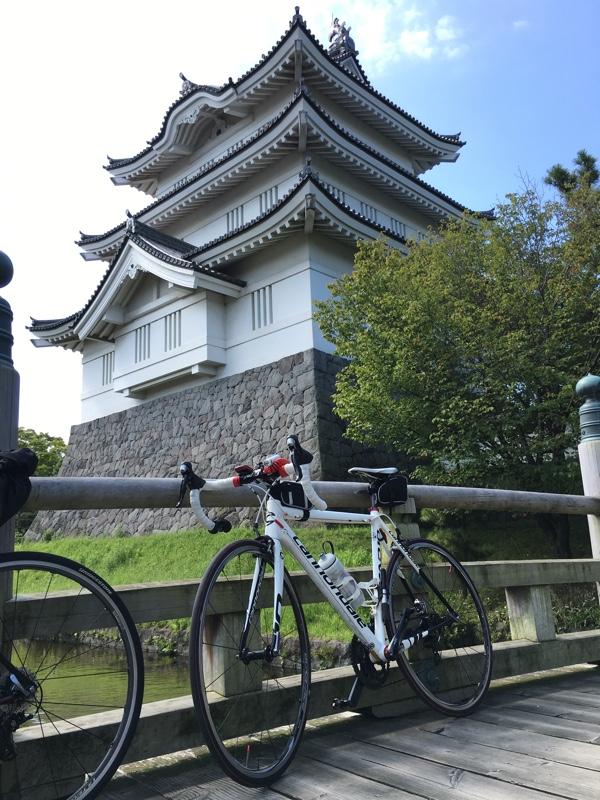 忍城とロードバイク(CAAD10)